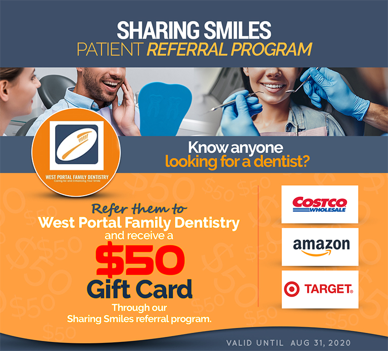 San Francisco Dental Offer Win $50 gift cards by referring people